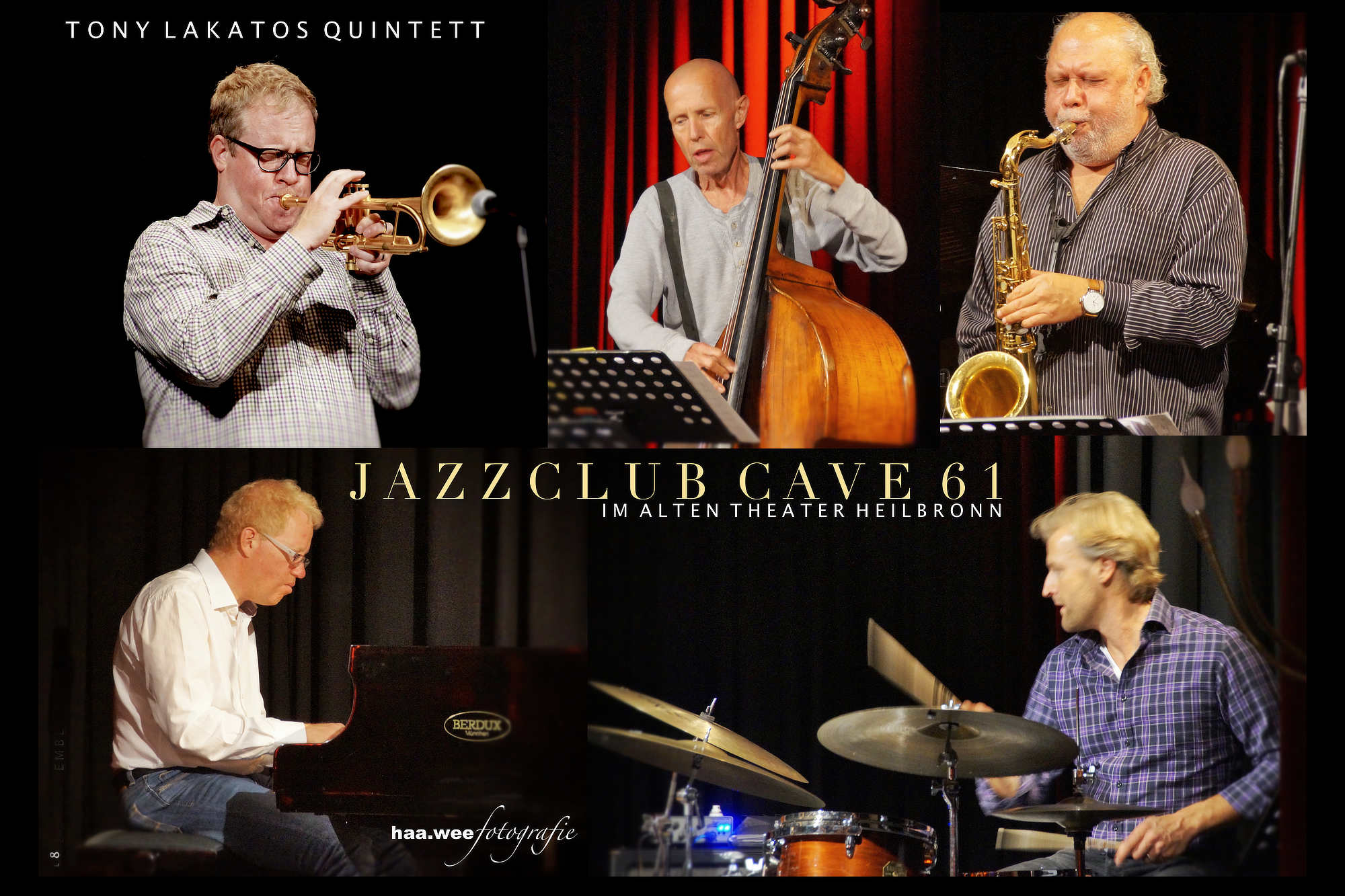 September 2018: Tony Lakatos Quintett